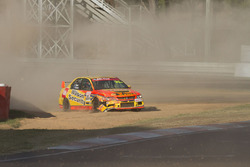 David Wall, John Bowe, Mitsubishi Lancer EVO IX RS spins
