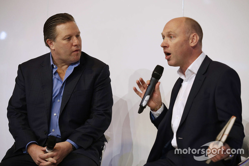 Zak Brown, Presidente de Motorsport Network y Toby Moody