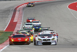 GT start: #24 BMW Team RLL BMW M6 GTLM: John Edwards, Martin Tomczyk leads