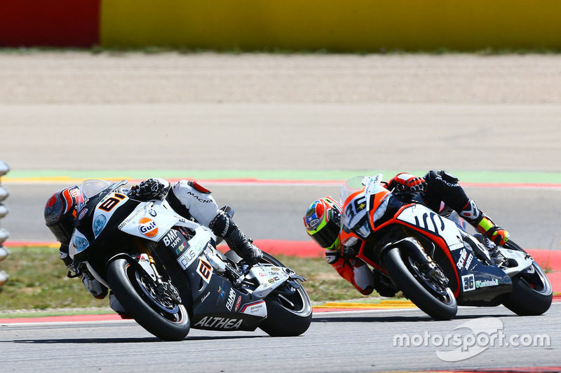 Jordi Torres, Althea BMW Racing; Leandro Mercado, IODA Racing