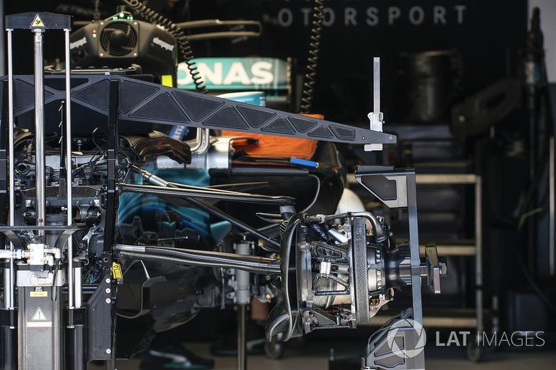 Mercedes-Benz F1 W08 Hybrid, detalles del monoplaza