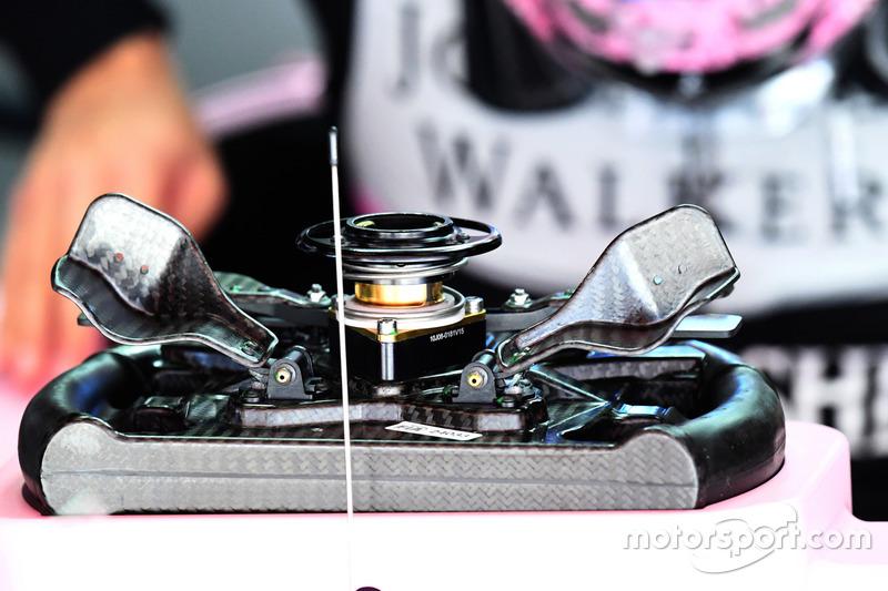 Sahara Force India VJM10 steering wheel