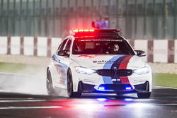 BMW Safety Car on the track inspection, wet track