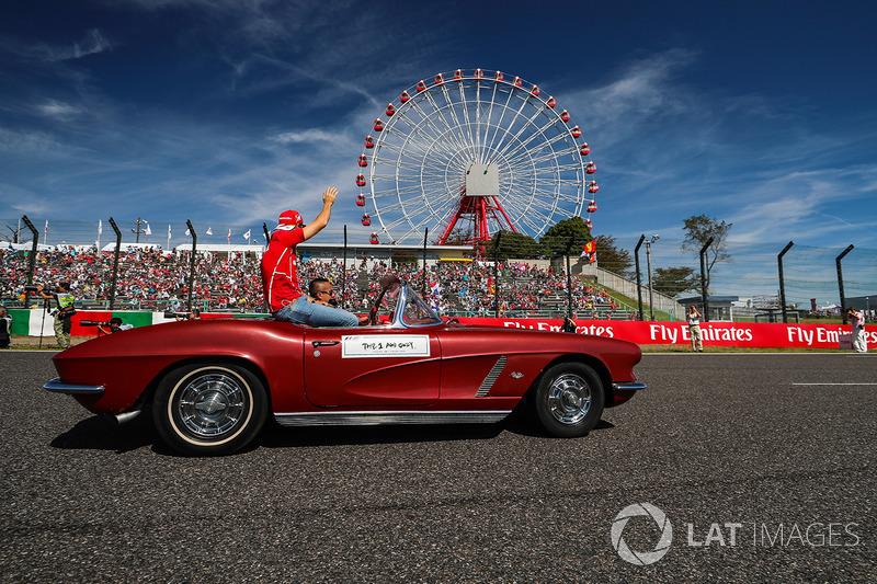 Sebastian Vettel, Ferrari en el desfile de pilotos