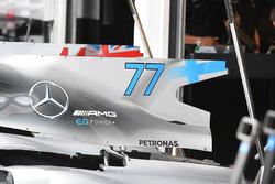 Mercedes-Benz F1 W08 Hybrid engine cover