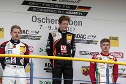 Podium: 1. Felipe Drugovich, Van Amersfoort Racing, 2. Michael Waldherr, Neuhauser Racing, 3. Juri V