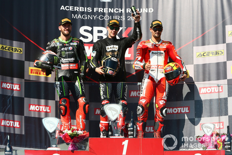 Tom Sykes, Kawasaki Racing, Jonathan Rea, Kawasaki Racing, Xavi Fores, Barni Racing Team