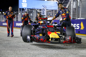Daniel Ricciardo, Red Bull Racing RB14 op de grid