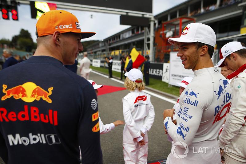 Макс Ферстаппен, Red Bull Racing, и Пьер Гасли, Scuderia Toro Rosso