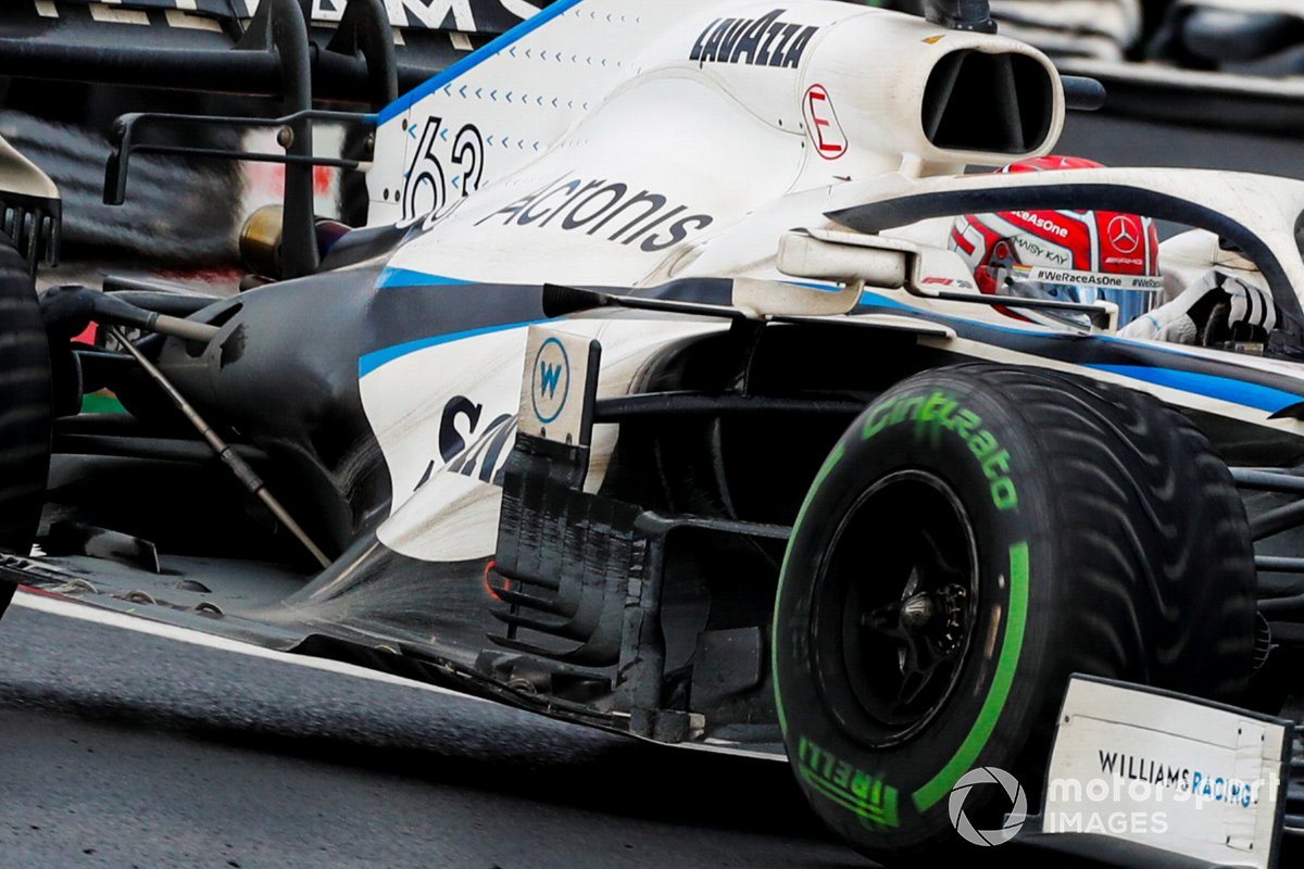 Detail sidepods Williams FW43