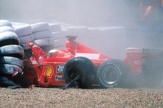 Michael Schumacher, Ferrari F399, Unfall in Silverstone 1999
