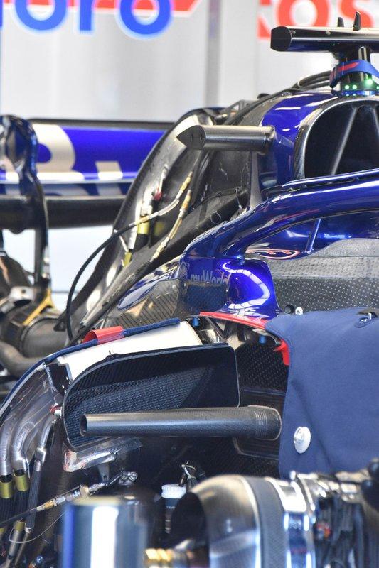 Vue détaillée de la Toro Rosso STR14