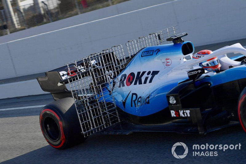 George Russell, Williams FW42 with aero sensors