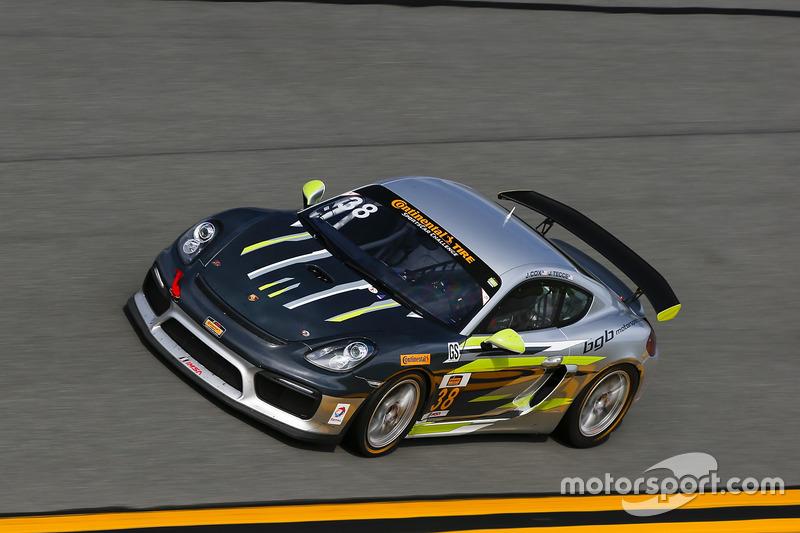 #38 BGB Motorsports Porsche Cayman GT4 MR: James Cox, John Tecce