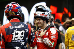 Travis Pastrana with Sebastian Vettel