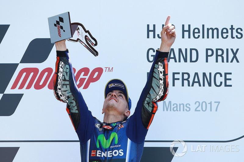 Le vainqueur Maverick Viñales, Yamaha Factory Racing