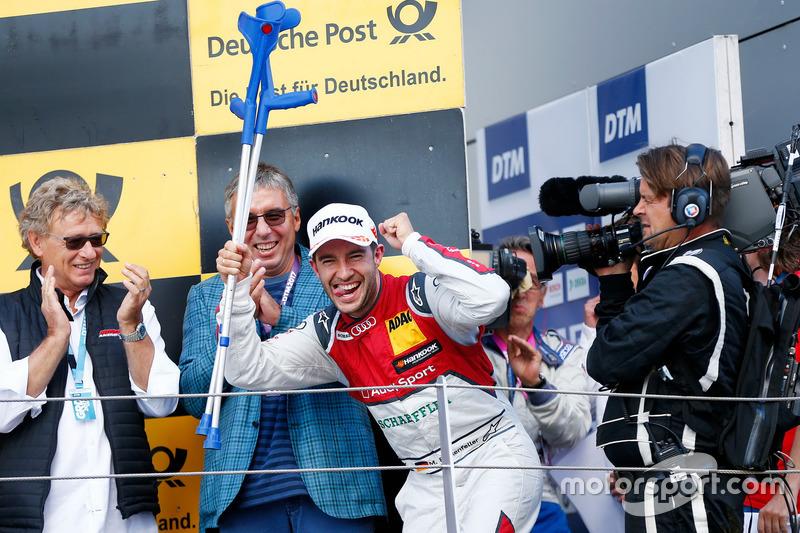 Podio: segundo lugar Mike Rockenfeller, Audi Sport Team Phoenix, Audi RS 5 DTM