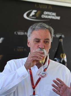 Chase Carey, Director Ejecutivo y Presidente Ejecutivo de la Formula One Group en la Carbon Champagne recepción para medios