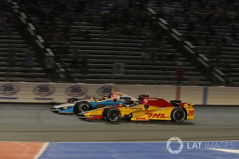 Ryan Hunter-Reay, Andretti Autosport Honda, Gabby Chaves, Harding Racing Chevrolet