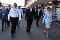 Illham Aliyev, Presidente de Azerbaiyán y Ross Brawn Formula One Director de Motorsports
