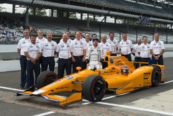 Fernando Alonso, Andretti Autosport Honda and team official qualifying portrait
