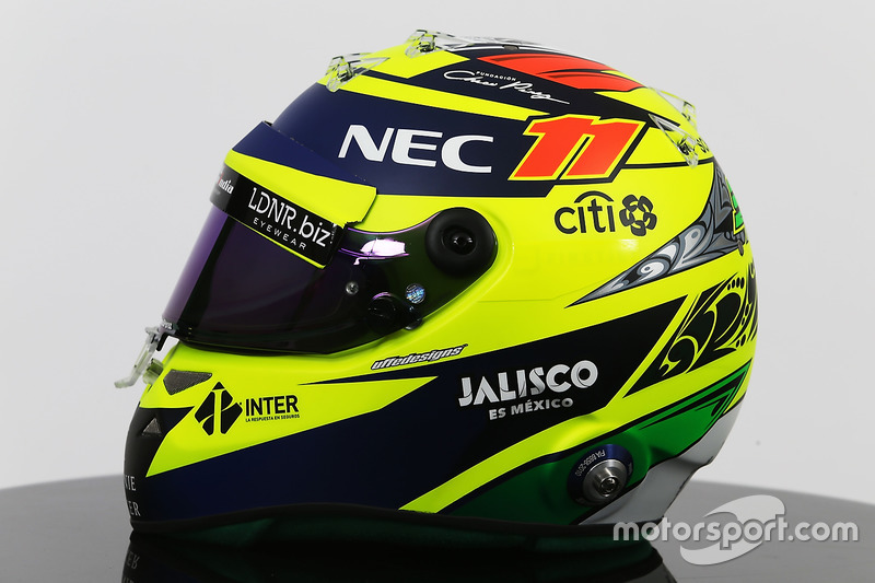 Helm von Sergio Perez, Sahara Force India F1 Team