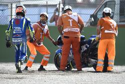 Alex Rins, Team Suzuki MotoGP, nach Sturz