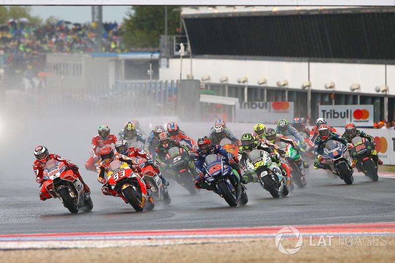 Start: Jorge Lorenzo, Ducati Team, Marc Marquez, Repsol Honda Team lead