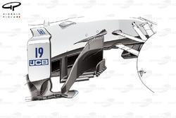 Williams FW40 new bargeboard, Austrian GP
