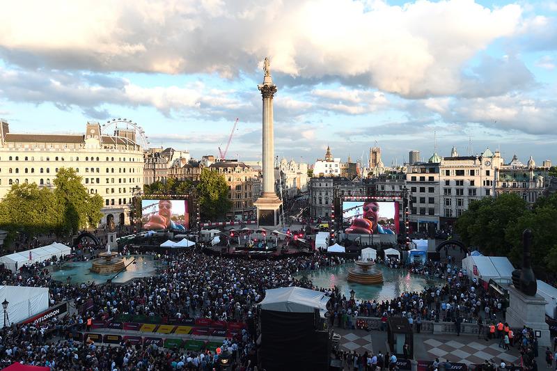 F1 Canlı - Londra, havadan görünüm