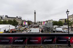 Preparations for F1 Live in Trafalgar Square