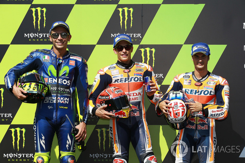 Кваліфікація: володар поула Марк Маркес, Repsol Honda Team, друге місце Валентино Россі, Yamaha Factory Racing, третє місце Дані Педроса, Repsol Honda Team