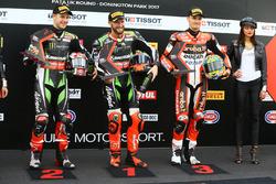 Qualifying Top 3: pole sitter Tom Sykes, Kawasaki Racing, second Jonathan Rea, Kawasaki Racing, third Chaz Davies, Ducati Team