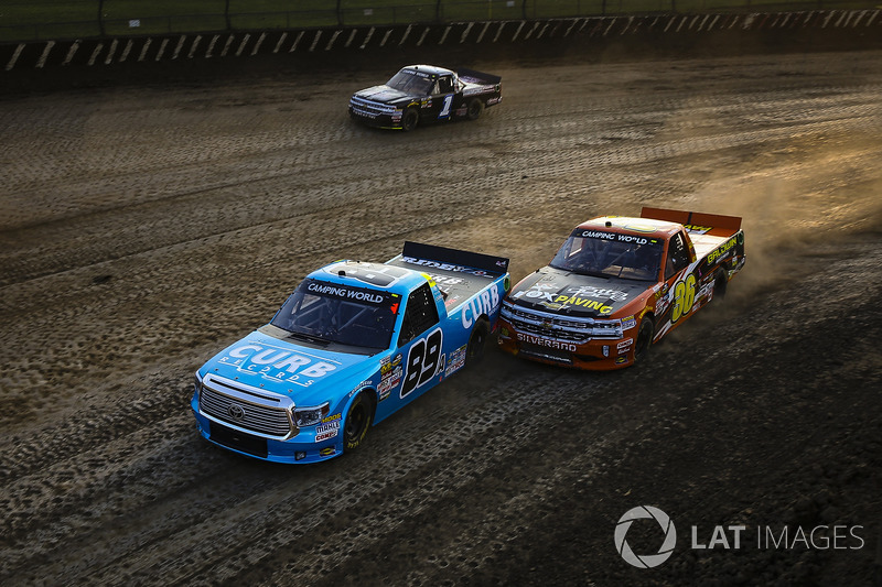 Rico Abreu, ThorSport Racing Toyota y Chris Windom, MB Motorsports Chevrolet