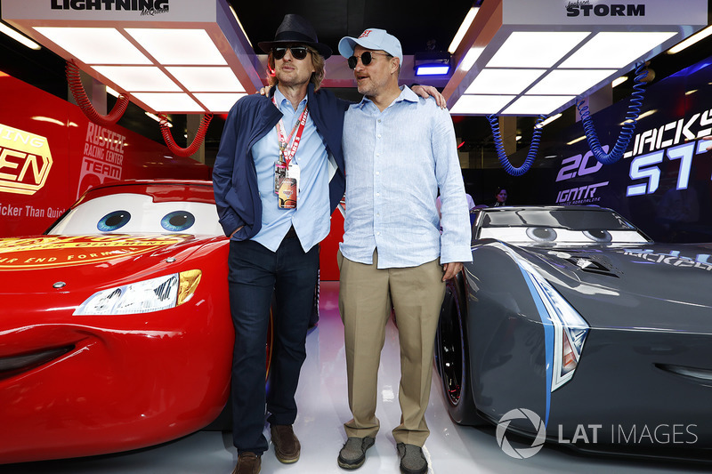 Actors Owen Wilson And Woody Harrelson In The Cars 3 Promotional