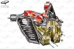 Ferrari F60 (660) 2009 chassis rear view