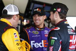 Ryan Newman, Richard Childress Racing Chevrolet, Denny Hamlin, Joe Gibbs Racing Toyota, Kurt Busch, Stewart-Haas Racing Chevrolet