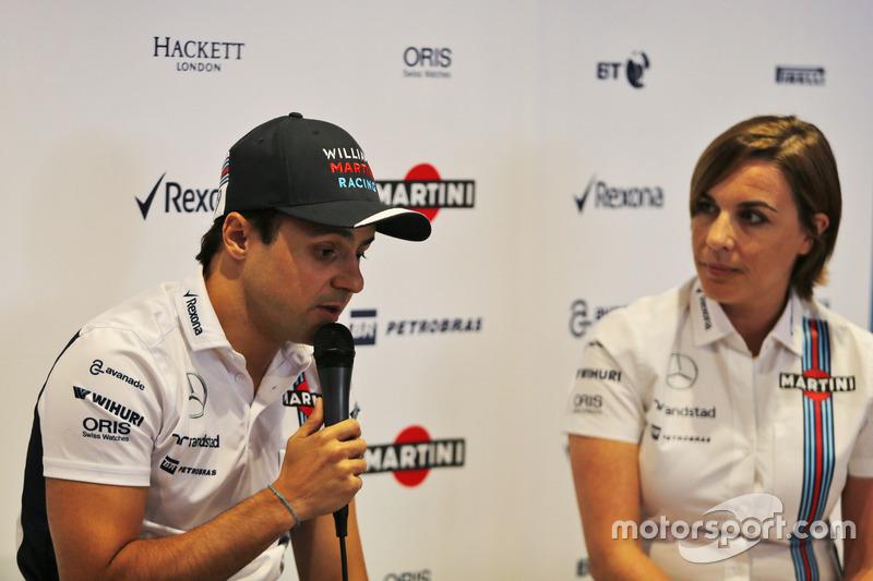Felipe Massa, Williams and Claire Williams, Williams Takım Patronu Vekili; Massa sezon sonunda emekliliğini açıklarken