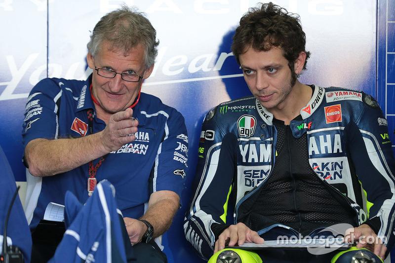 Valentino Rossi, Yamaha Factory Racing, mit Crewchief Jeremy Burgess