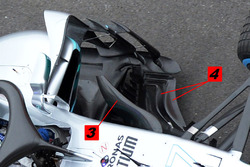 Mercedes AMG F1 W09 bargeboard detail