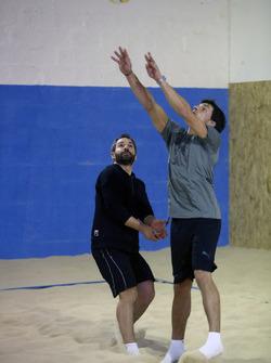Bruno Spengler e Timo Glock, Indoor Beachvolleyball