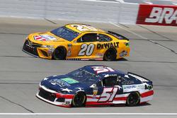 B.J. McLeod, Rick Ware Racing, Ford Fusion and Erik Jones, Joe Gibbs Racing, Toyota Camry DeWalt