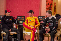 Helio Castroneves, Ryan Hunter-Reay and Josef Newgarden backstage