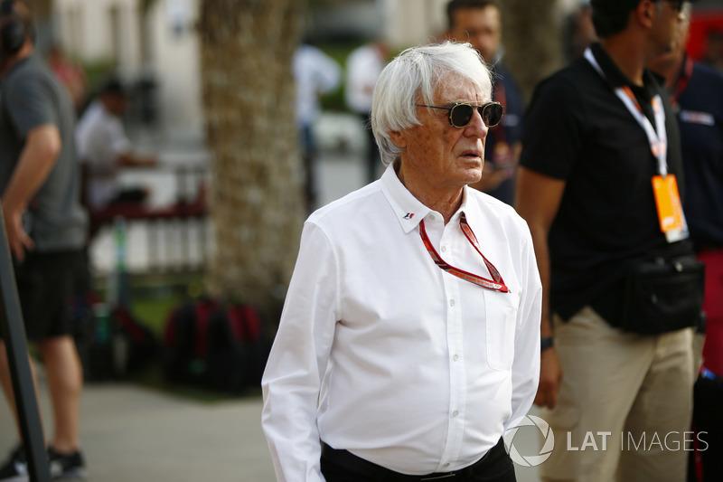 Bernie Ecclestone, Chairman Emiritus of Formula 1, in the paddock