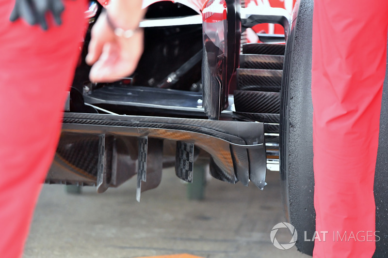 Detalle del difusor Ferrari SF71H