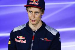 Brendon Hartley, Scuderia Toro Rosso, in the press conference