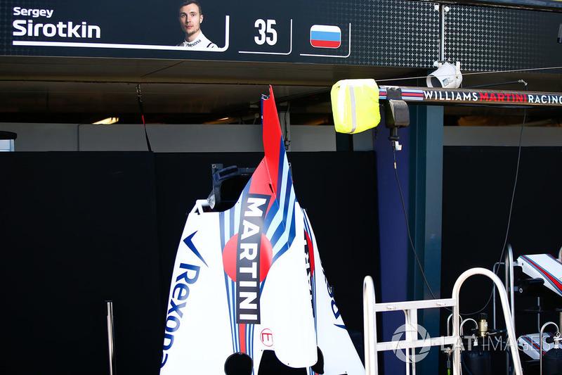 Cofano motore di Sergey Sirotkin, Williams Racing