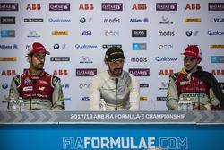 Lucas di Grassi, Audi Sport ABT Schaeffler, Jean-Eric Vergne, Techeetah., Daniel Abt, Audi Sport ABT Schaeffler