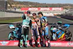 Чемпіон Moto3 Жоан Мір, Leopard Racing MotoGP Чемпіон MotoGP Марк Маркес, Repsol Honda Team, Чемпіон Moto2 Франко Морбіделлі, Marc VDS