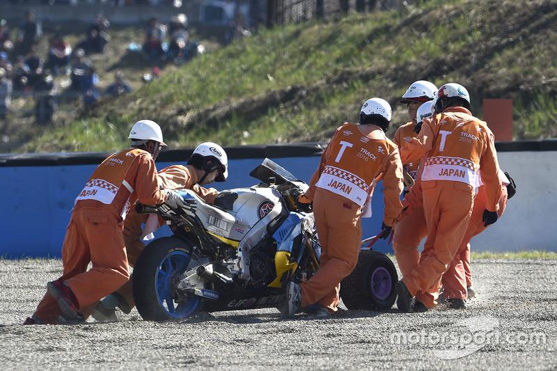 Jack Miller, Estrella Galicia 0,0 Marc VDS bike after his crash